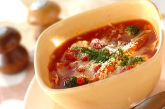 キャベツのトマトチーズスープ
