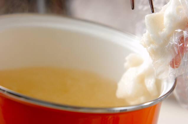 たたき長芋のみそ汁の作り方の手順5