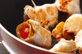 鶏ささ身のトマト巻きの作り方2