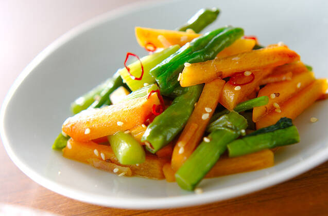 柿の炒め物