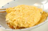 卵のせエンドウ豆入りオムライスの作り方4