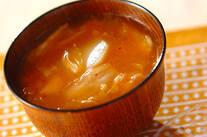ジャガイモとキムチのみそ汁