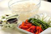 牛肉と野菜のオイスター炒めの下準備2