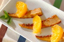 焼きタケノコと甘夏のサラダ