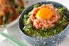 ねばねばオクラと卵黄のマグロたたき丼の作り方の手順