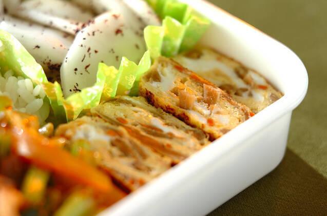 きんぴらごぼうの卵焼き