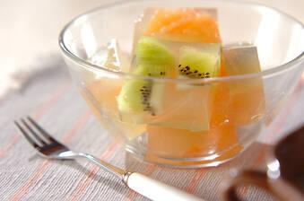 寒天のフルーツ寄せ