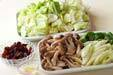 豚肉と野菜のみそ炒めの下準備4