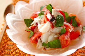 トマトとタコの洋風酢の物