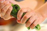 小松菜とジャコの和え物の下準備1