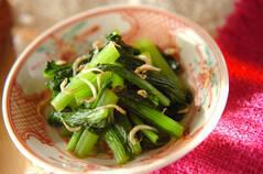小松菜とジャコの和え物
