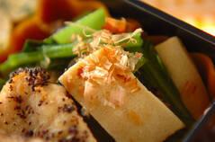 高野豆腐と小松菜の煮びたし