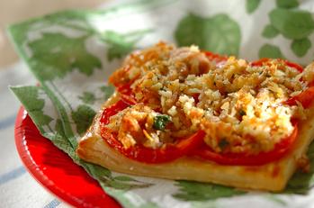 トマトとツナのお手軽パイ