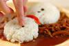 電子レンジで作るクリスマスカレーの作り方の手順9