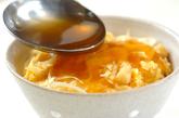 ホタテ入りふわふわ卵あんかけ丼の作り方2