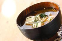 豆腐の梅みそ汁