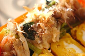 シューマイと小松菜のサッと煮