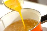 葛きり入り卵スープの作り方2