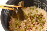 タコとエンドウ豆のご飯の作り方6