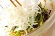 糸コンの酢の物の作り方2