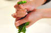菜の花とゴボウ天のサッと煮の作り方の手順1