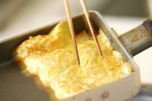 厚焼き卵サンドの作り方の手順3