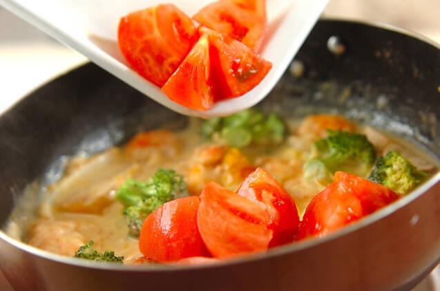 エビとトマトのクリーム煮の作り方の手順8