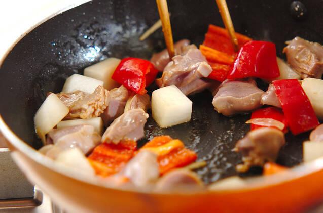 砂肝のピリ辛炒めの作り方の手順5