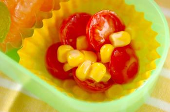プチトマトとコーンのサラダ