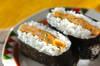 キムチとニラの卵焼きおにぎらずの作り方の手順