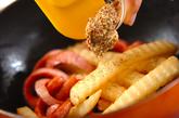 ポテトとソーセージのマスタード炒めの作り方2