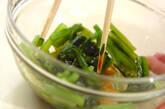 小松菜とジャコのお浸しの作り方3
