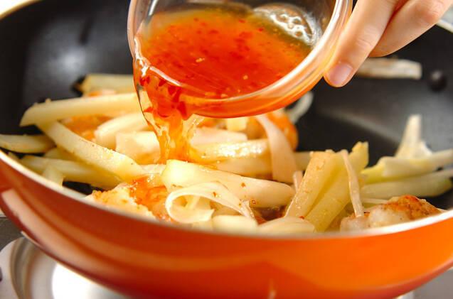 エビとジャガイモのチリ炒めの作り方の手順8
