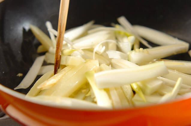 エビとジャガイモのチリ炒めの作り方の手順7