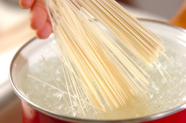 納豆のひとくち素麺の作り方の手順2