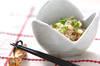 納豆のひとくち素麺の作り方の手順
