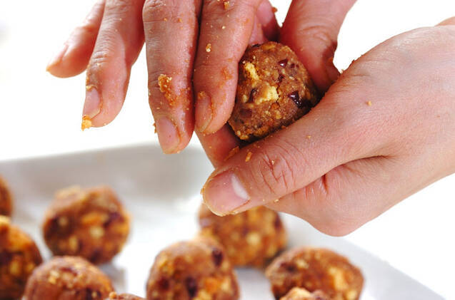 和風クッキーボールの作り方の手順2