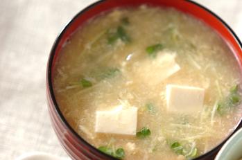 豆腐のふんわり卵汁