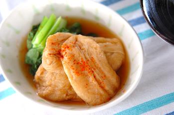 麩と青菜のサッと煮