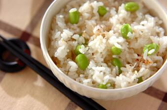 風味豊か!枝豆とホタテの炊き込みご飯