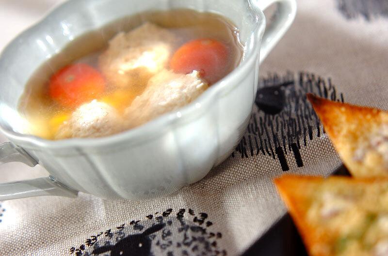 トマトと肉団子のスープ
