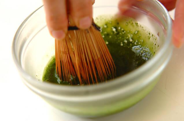 抹茶ミルクゼリーの作り方の手順1