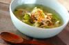白菜と鶏むね肉のスープの作り方の手順