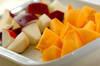 柿とリンゴのサラダの作り方の手順1