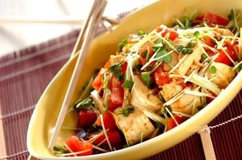 豆腐のみそ風味サラダ
