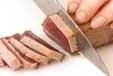 カツオのたたき・梅肉ソースの下準備1