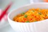 ニンジンご飯の作り方の手順