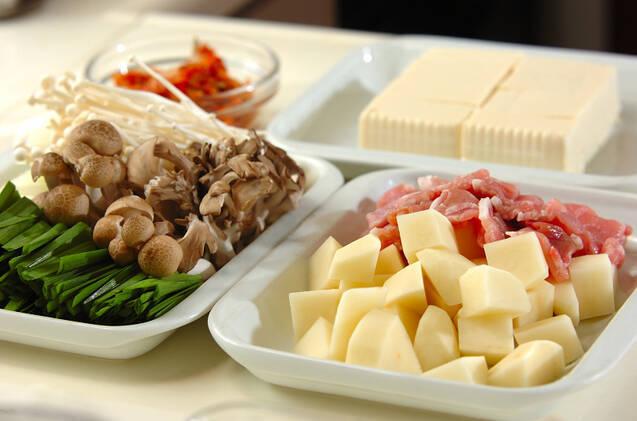豚のチーズチゲ鍋の作り方の手順1