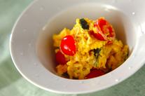 カボチャとトマトのサラダ