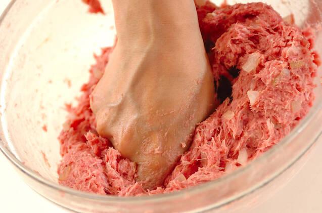 ジャンボハンバーグの作り方の手順3